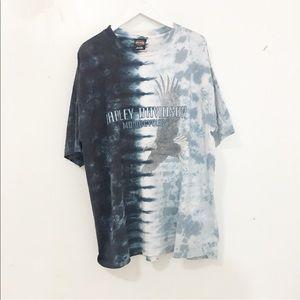 ☄️sold Vintage/ Harley Davidson die dye t shirts